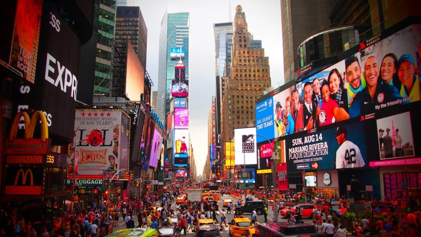 Die Vergreisung Europas: Times Square New York (Foto www.pixabay.com)
