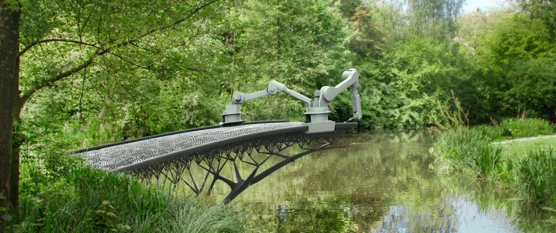 3D gedruckte Brücke in Amsterdam (Concept)_copyright MX3D