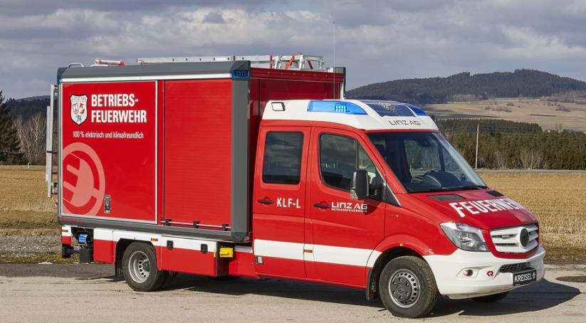 Elektromobilität - das erste E-Feuerwehrauto in Linz