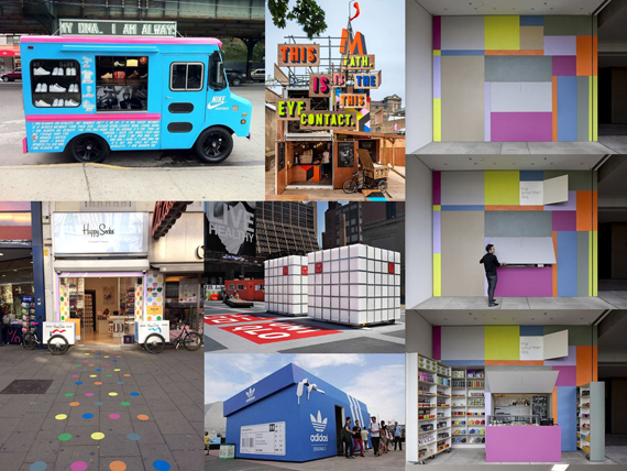 Collage Pop-Up Stores