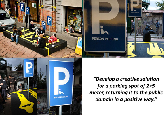 Person Parking Collage