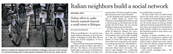 Italien Neighbors(c)The New York Times
