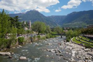 Wasser in der Stadt, Meran, Südtirol, Passer
