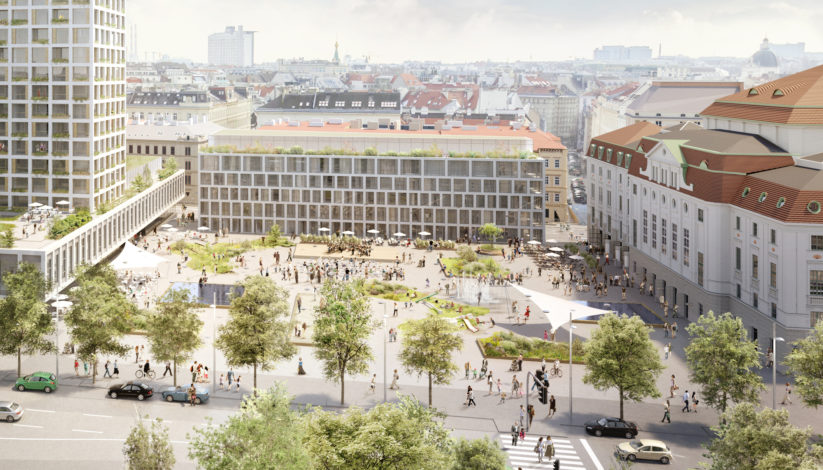 Neugestaltung Heumarkt (c) Entwurf: Isay Weinfeld und Sebastian Murr, Rendering: Nightnurse