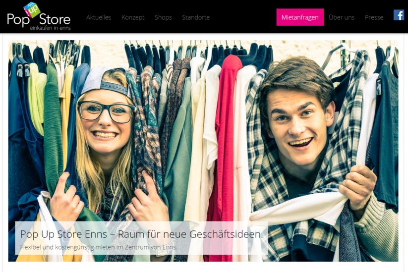 Pop Up Stores - Best Practice Beispiel Enns in Österreich