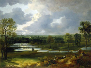 Thomas Gainsborough (1727–1788): Holywells Park, um 1748–1750. Öl auf Leinwand, 50,8 x 66 cm; Ipswich Museum and Gallery. Public Domain