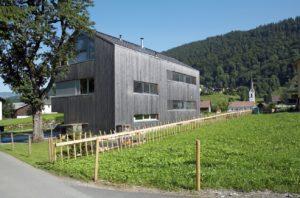 Einfamilienhaus in Bizau. Foto: © Christoph Lingg, Bregenzerwald Tourismus