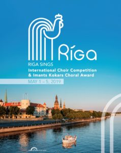 Plakat zum Internationalen Chorwettbewerb in Riga 2019. Quelle: interkultur.com