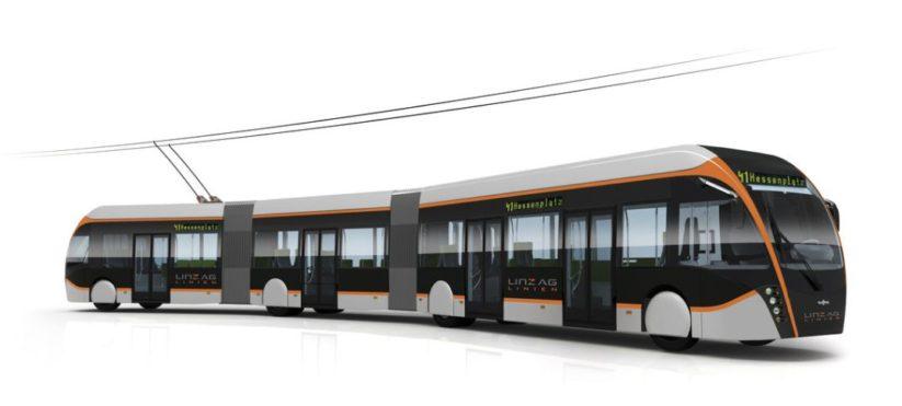 Innovative Verkehrskonzepte: Emissionsfreier futuristischer Trambus in Linz