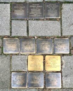 Stolpersteine im Hamburger Grindelviertel. Projekt von Gunter Demnik, Köln. Foto: © Claus Friede