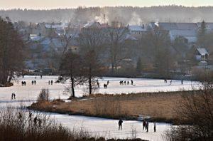 Winter auf dem Fluss. Foto: Zdeněk Chalupský