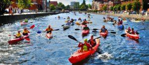Flüsse als Kulturort: Kajaks und Ruderboote auf der Brda. Foto: Robert Sawicki