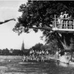 Donaubad Held am Neu-Ulmer Donauufer im Juni 1950 (StA Ulm, G 7/3.1) Quelle: Stadtarchiv Ulm