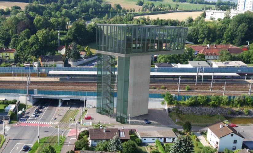 Die Linzer Seilbahnstation in Ebelsberg wäre 35 Meter hoch.