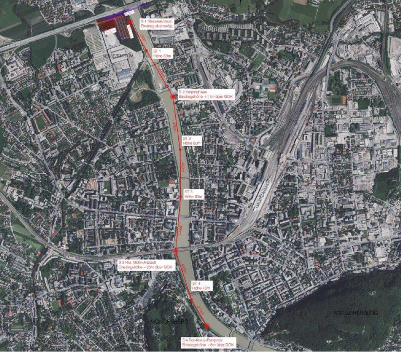Die ersten Planungen für eine Stadtseilbahn in Salzburg