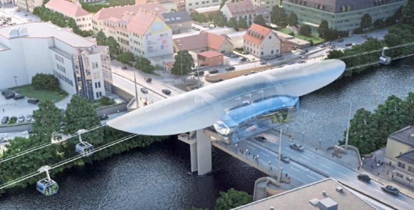 In Graz wird derzeit eine Stadtseilbahn geplant, die über die Mur führen soll.