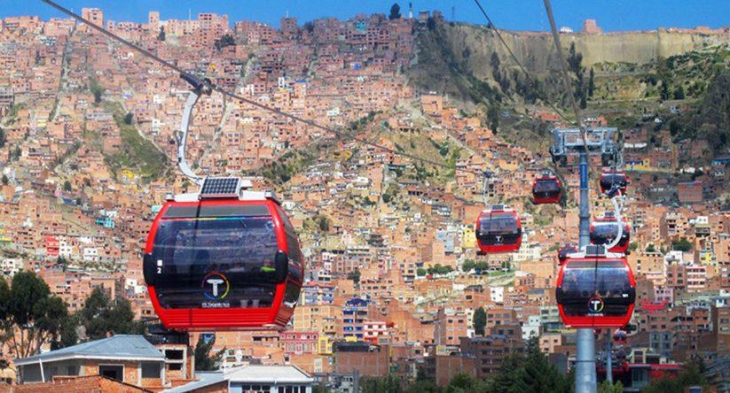 Das größte Seilbahnnetz befindet sich im bolivianischen La Paz.