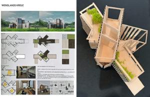 """Xu Huang: """"Wendlands Kreuz"""", Entwurfspläne und Modell. Foto: Claus Friede"""
