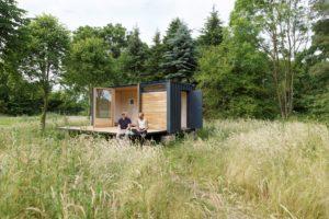 Umgebauter SISU-Container zu einem Tiny House. Foto: Marc Dietenmeyer