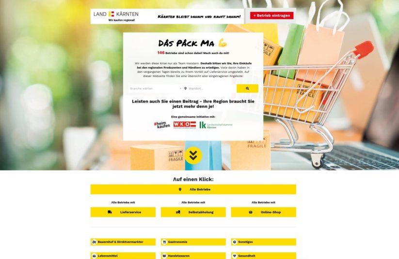 Produzenten, Händler und Konsumenten werden auf der Online Plattform Das pack ma zusammengebracht.