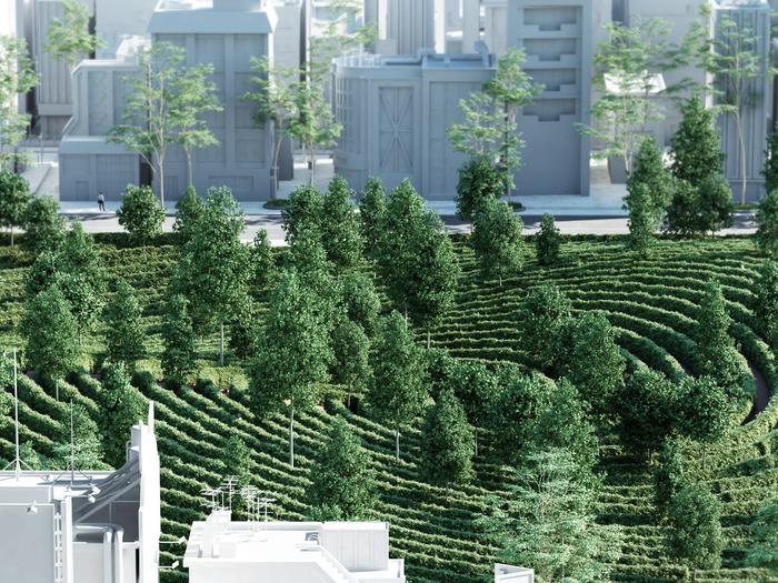 Ein innovativer Park, der für Distanz sorgt